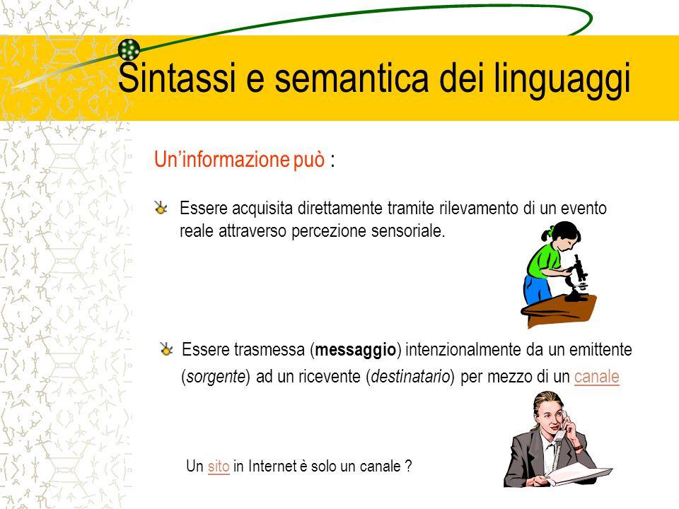 Sintassi e semantica dei linguaggi