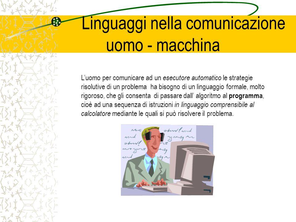 Linguaggi nella comunicazione uomo - macchina