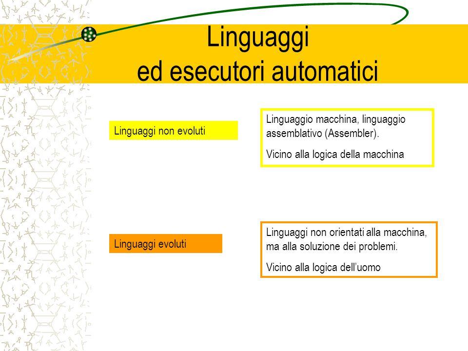 Linguaggi ed esecutori automatici