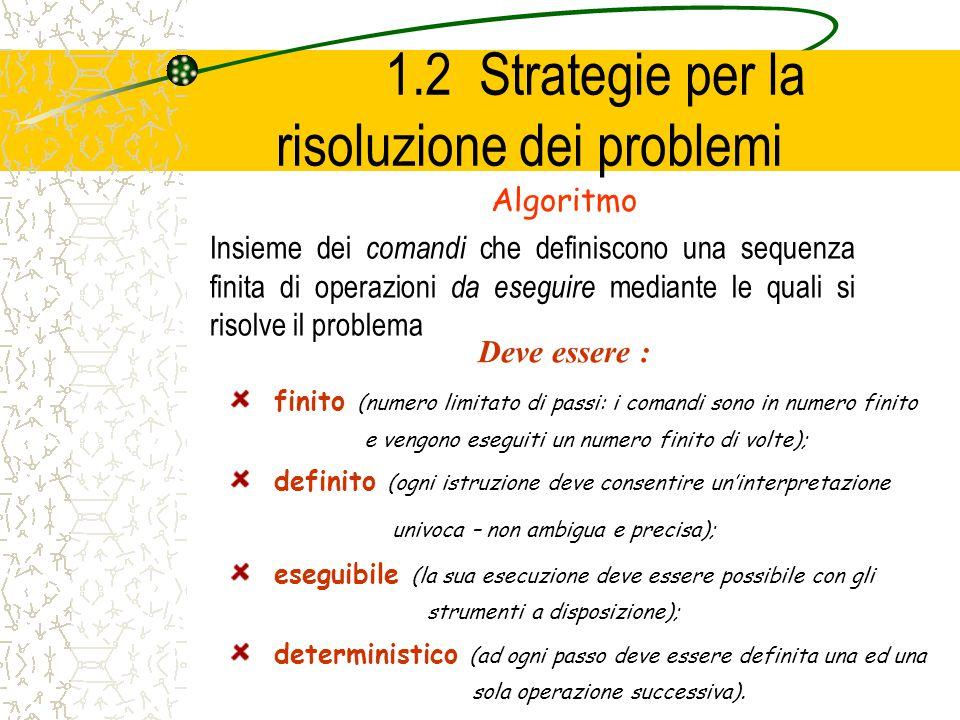 1.2 Strategie per la risoluzione dei problemi