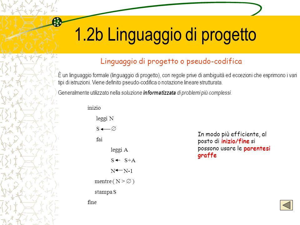 1.2b Linguaggio di progetto