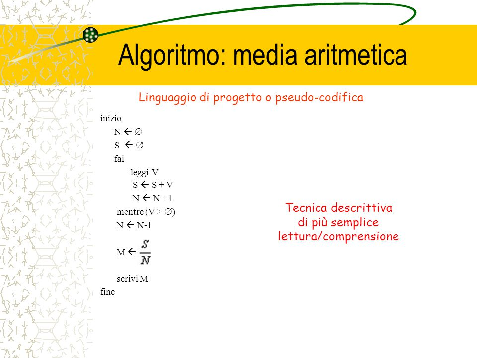 Algoritmo: media aritmetica