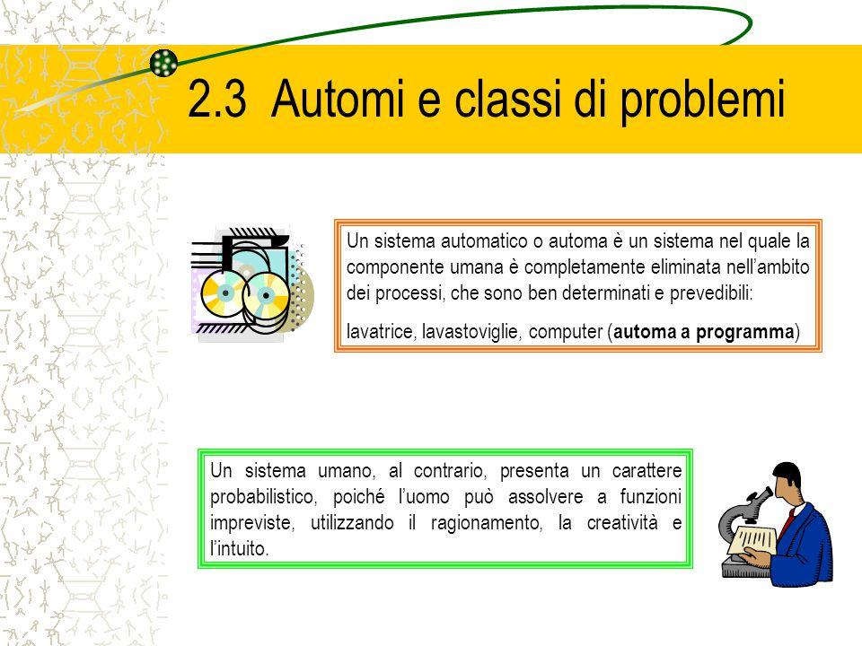 2.3 Automi e classi di problemi