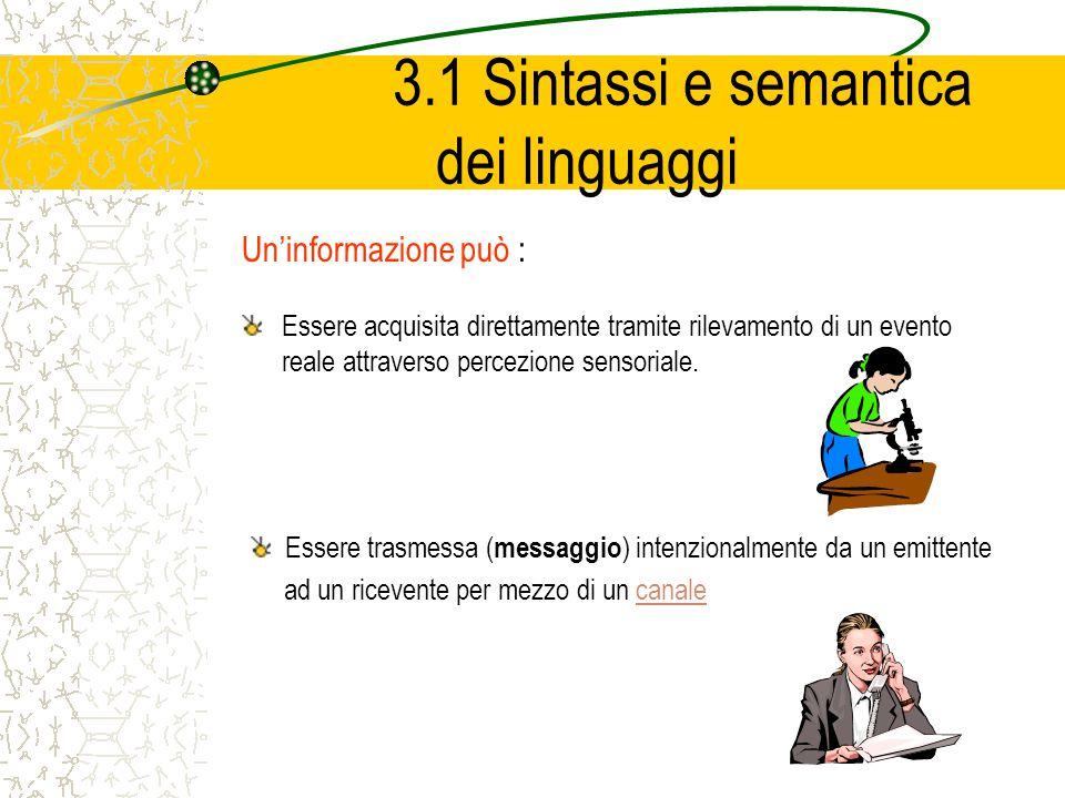 3.1 Sintassi e semantica dei linguaggi