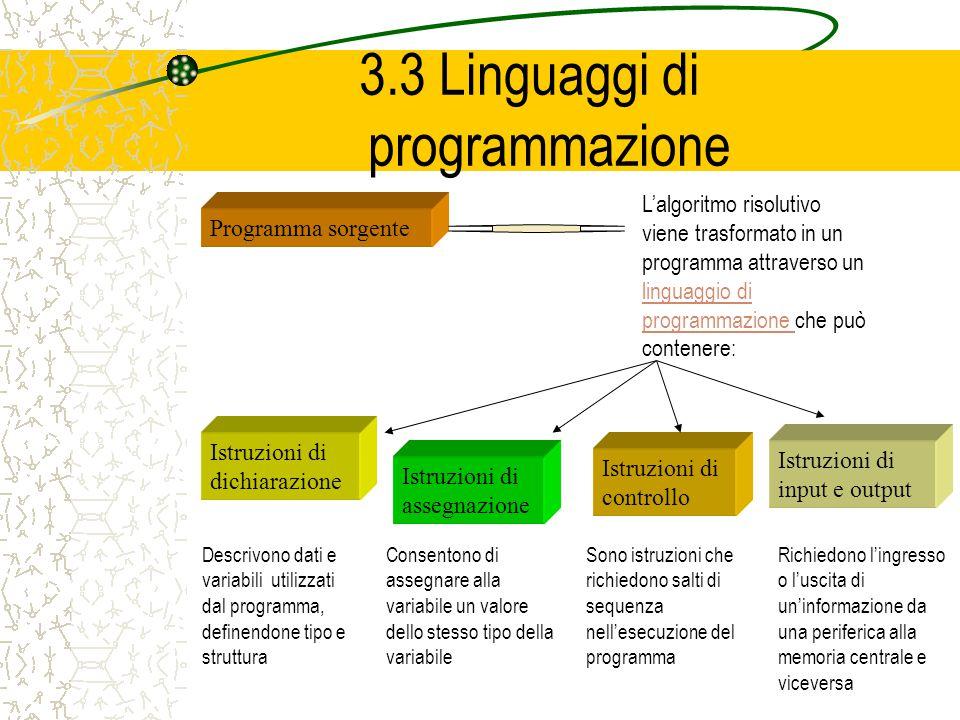 3.3 Linguaggi di programmazione