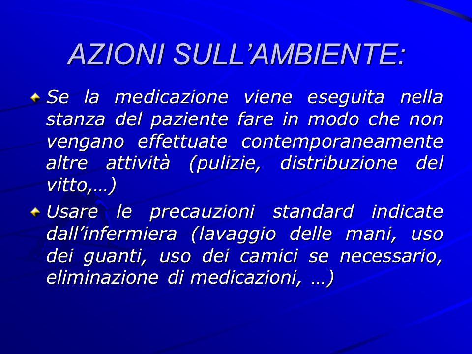 AZIONI SULL'AMBIENTE: