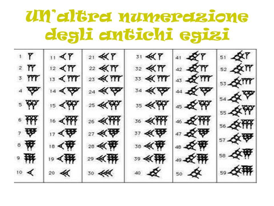 UN'altra numerazione degli antichi egizi