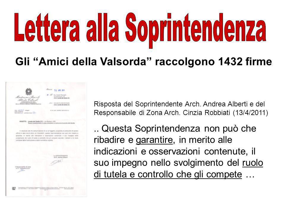 Gli Amici della Valsorda raccolgono 1432 firme