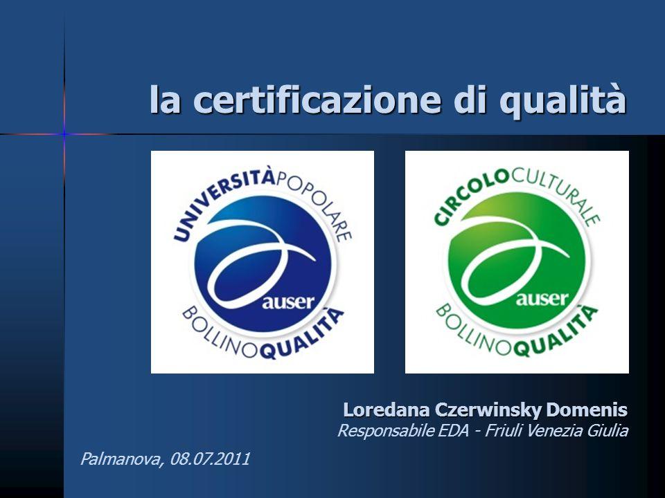 la certificazione di qualità