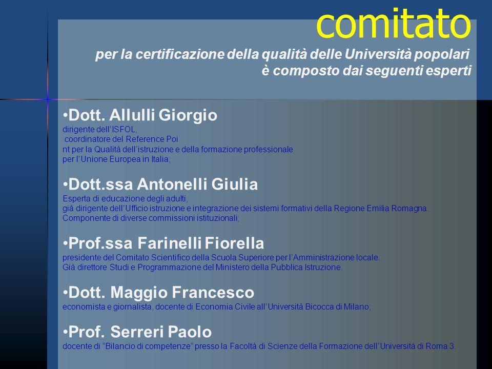 comitato Dott. Allulli Giorgio Dott.ssa Antonelli Giulia