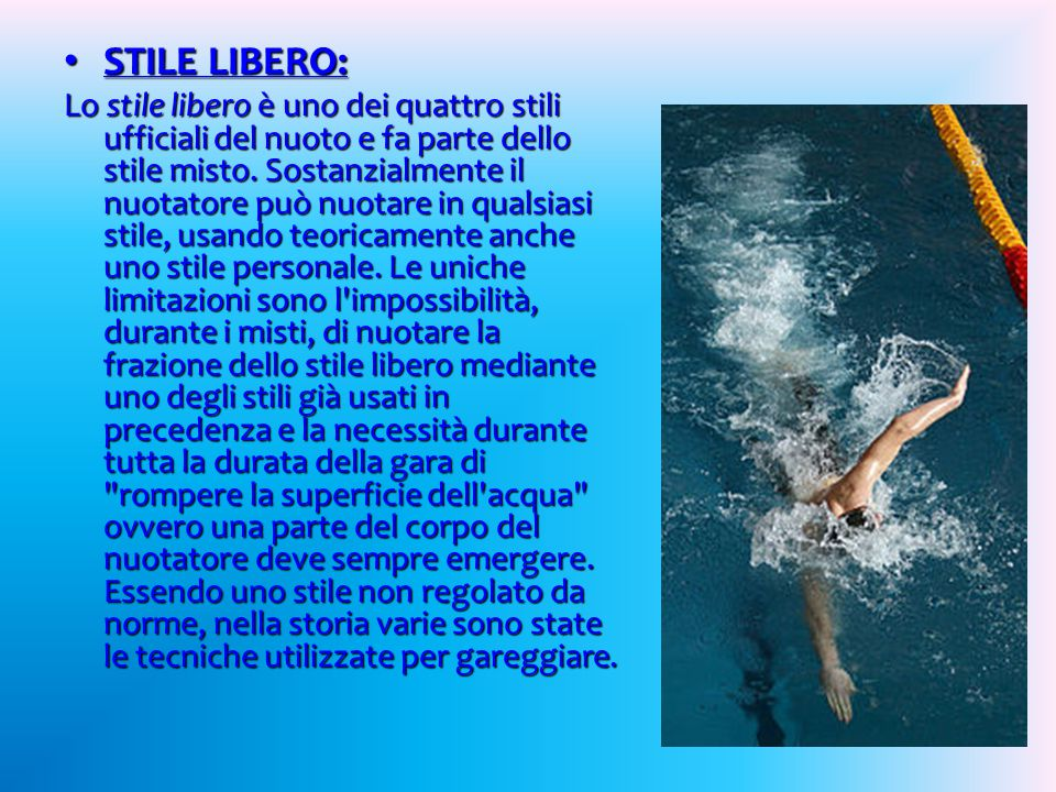 STILE LIBERO: