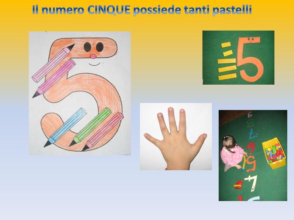 Il numero CINQUE possiede tanti pastelli