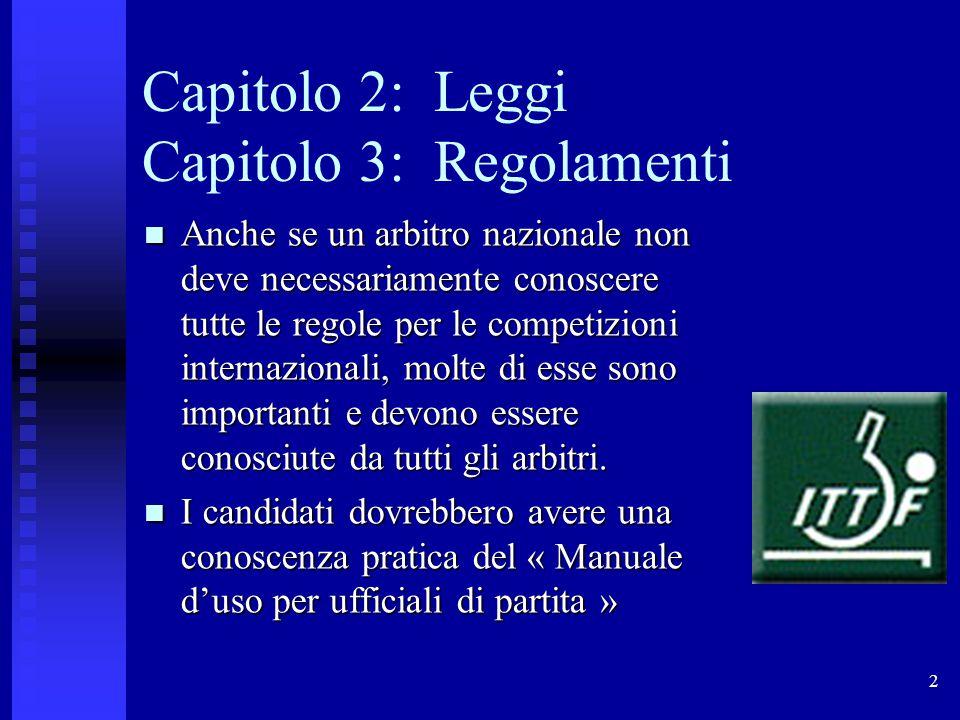 Capitolo 2: Leggi Capitolo 3: Regolamenti