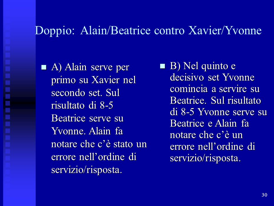 Doppio: Alain/Beatrice contro Xavier/Yvonne