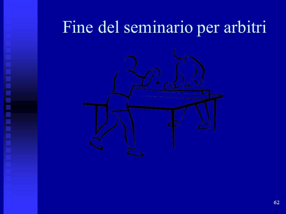 Fine del seminario per arbitri