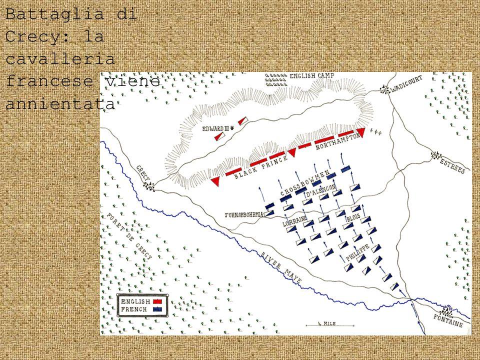 Battaglia di Crecy: la cavalleria francese viene annientata
