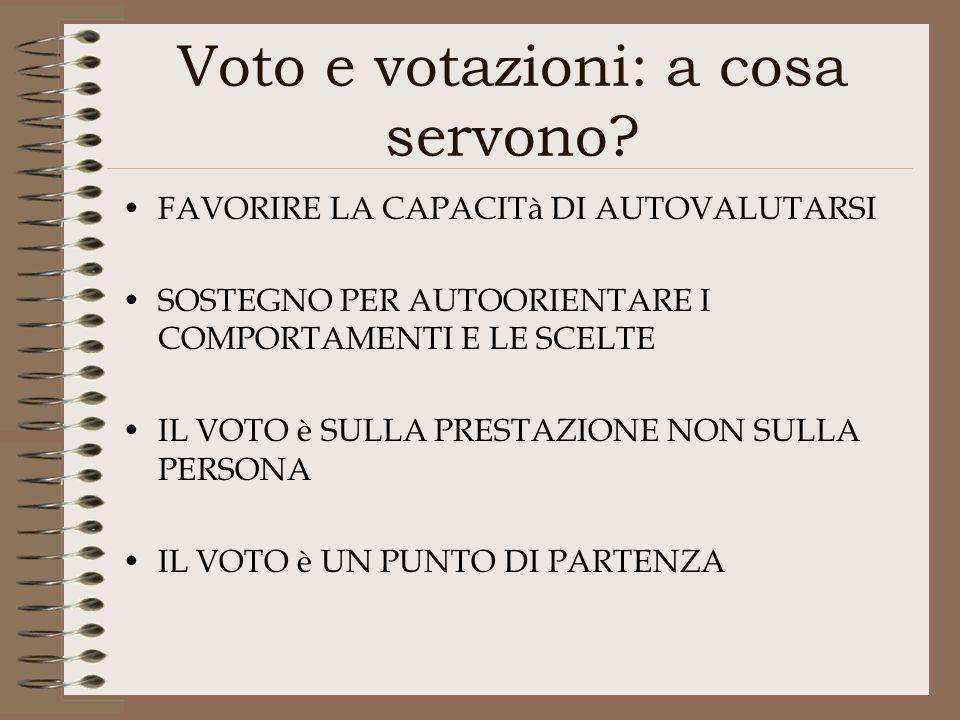 Voto e votazioni: a cosa servono