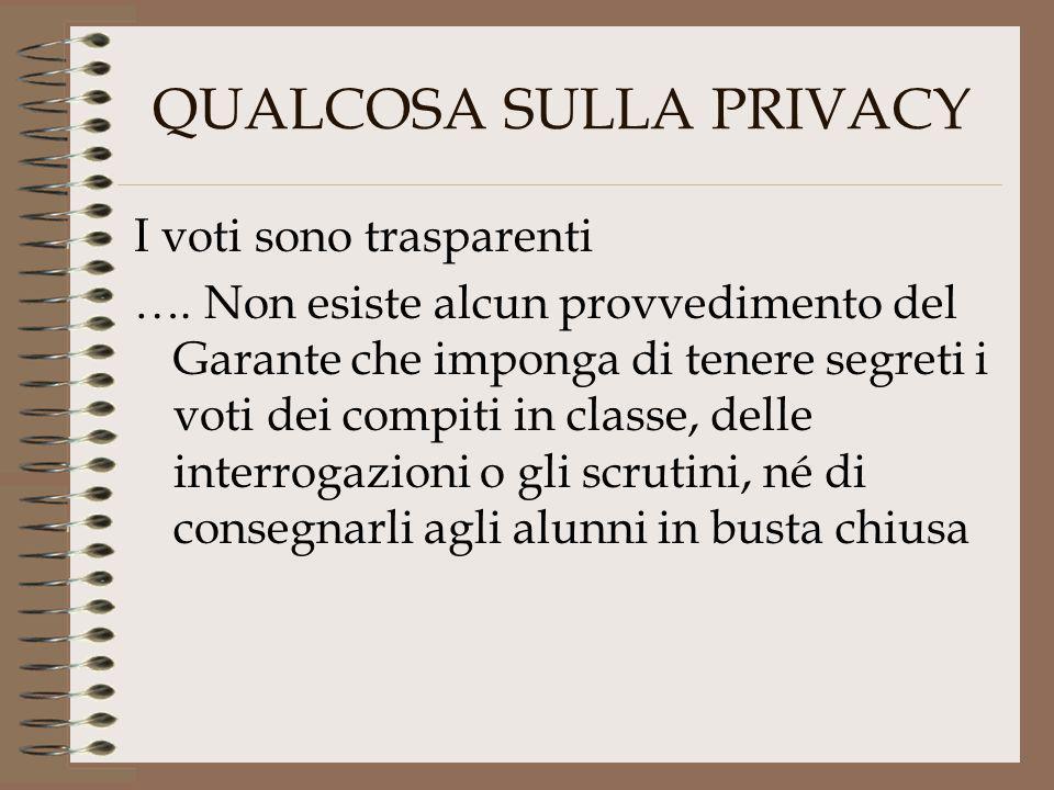 QUALCOSA SULLA PRIVACY