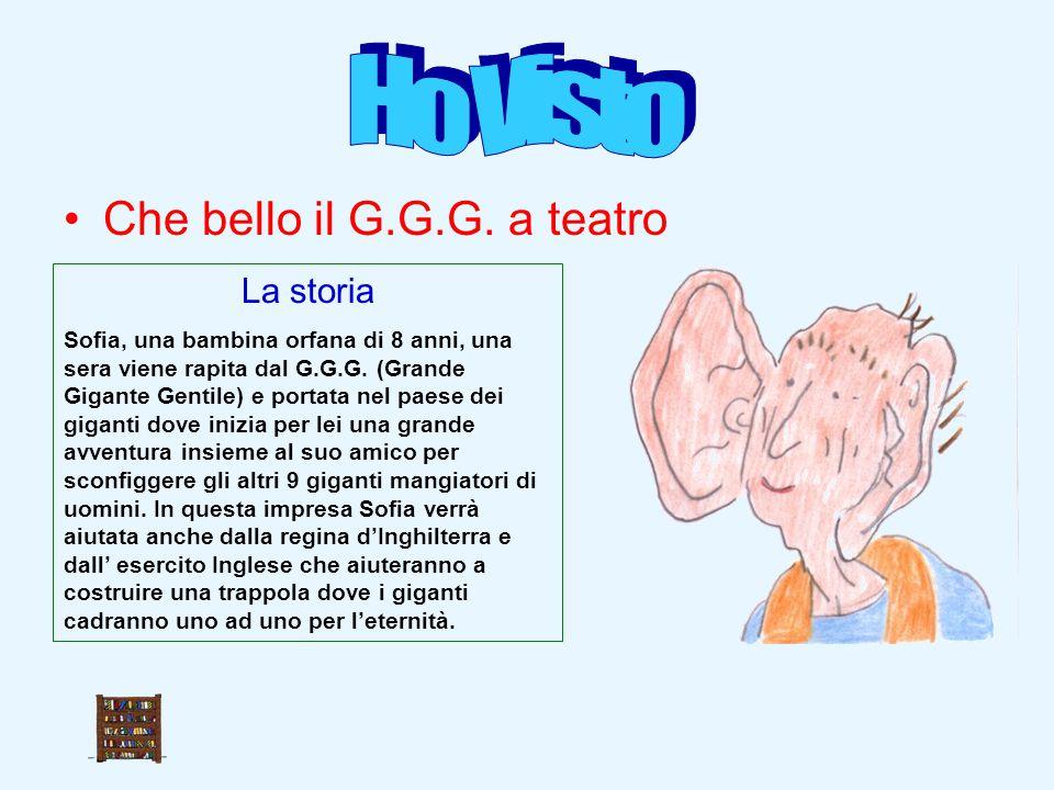 Ho Visto Che bello il G.G.G. a teatro La storia