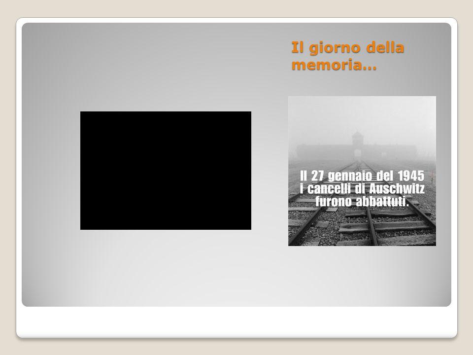Il giorno della memoria…