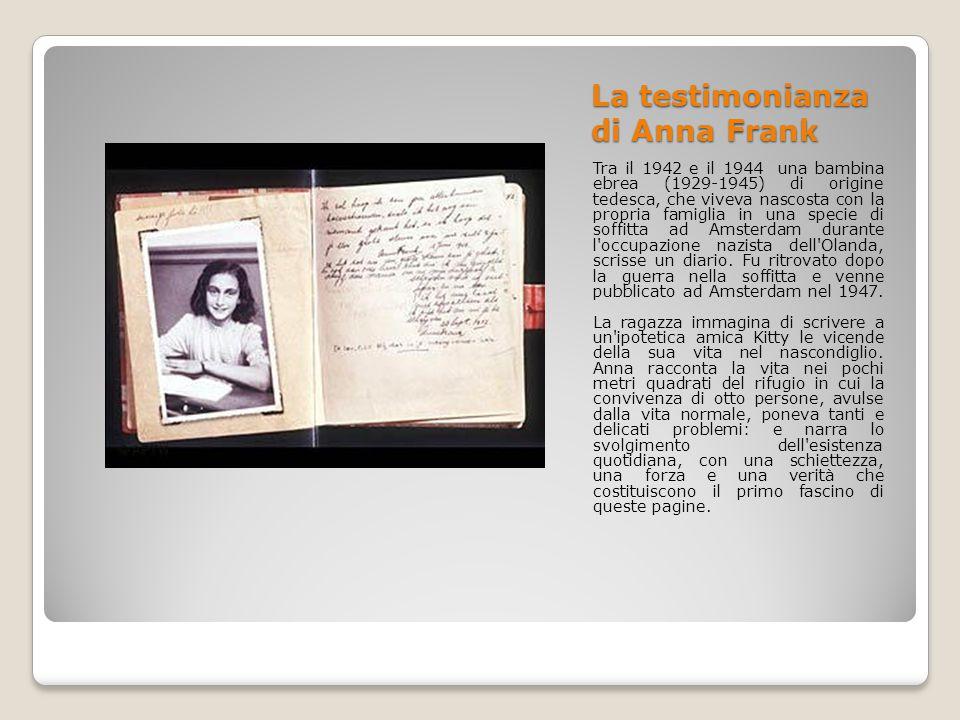 La testimonianza di Anna Frank