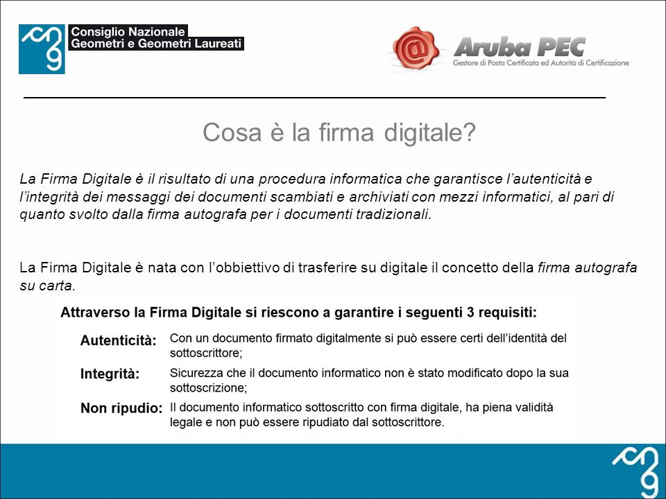 Cosa è la firma digitale