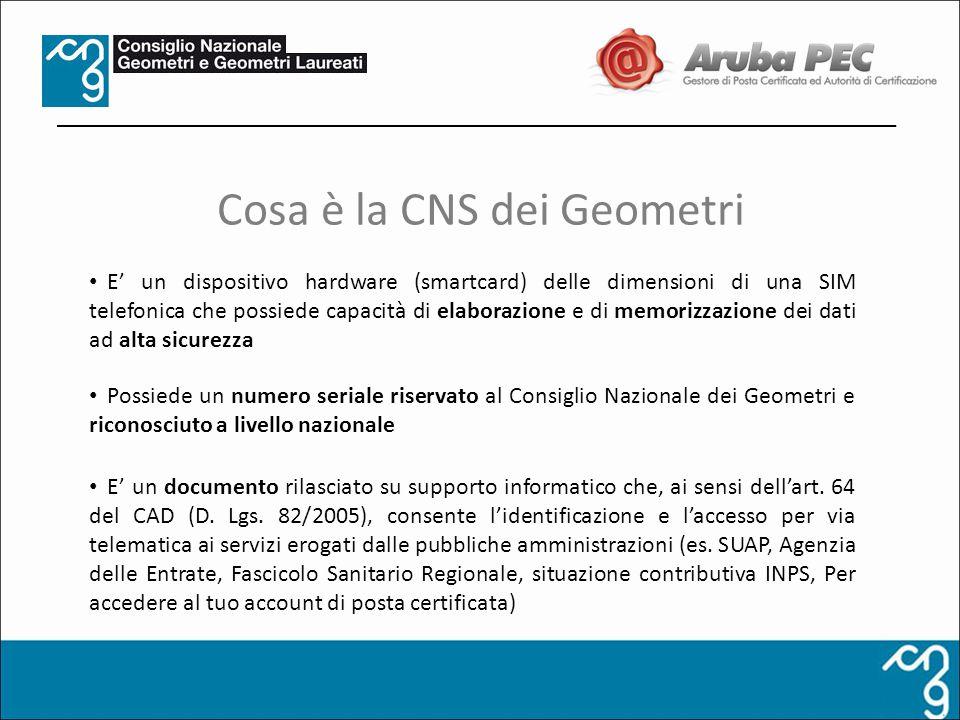 Cosa è la CNS dei Geometri