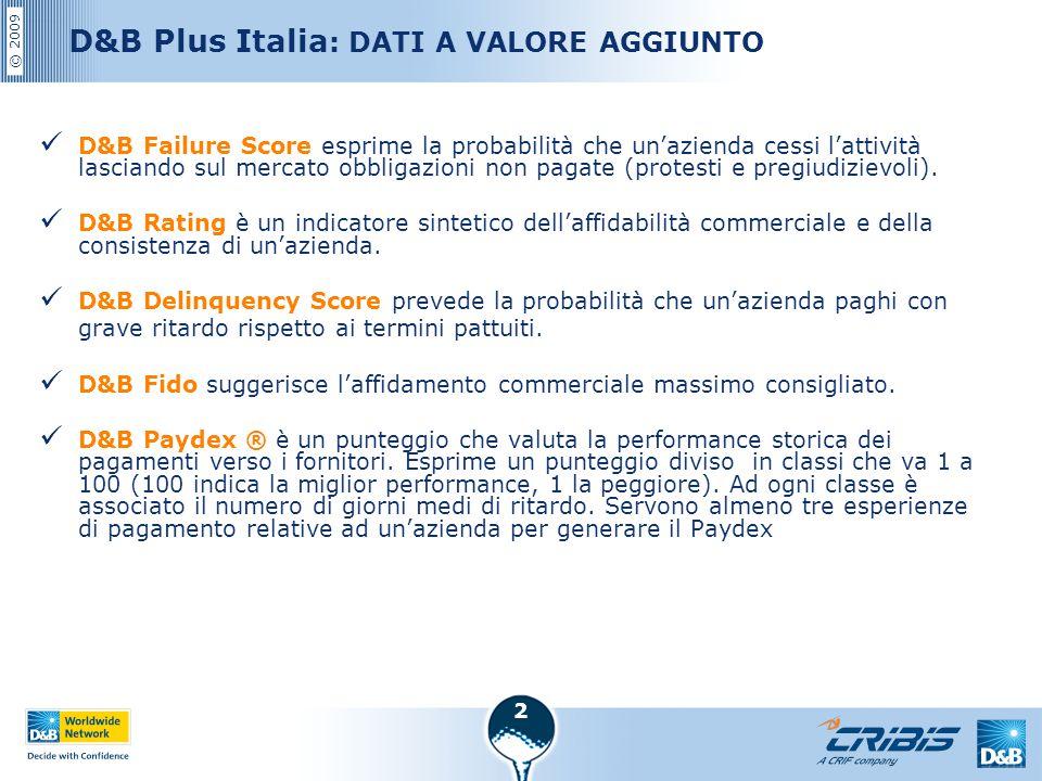 D&B Plus Italia: DATI A VALORE AGGIUNTO