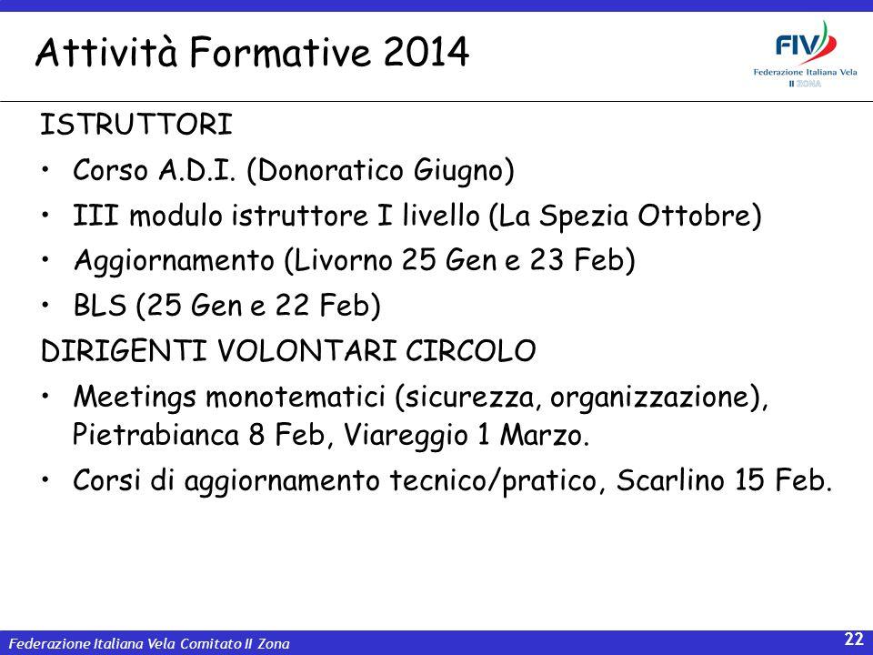 Attività Formative 2014 ISTRUTTORI Corso A.D.I. (Donoratico Giugno)