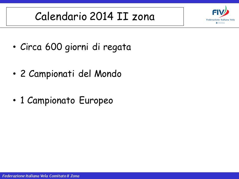 Calendario 2014 II zona Circa 600 giorni di regata