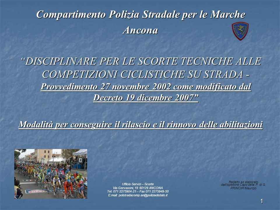 Compartimento Polizia Stradale per le Marche Ancona