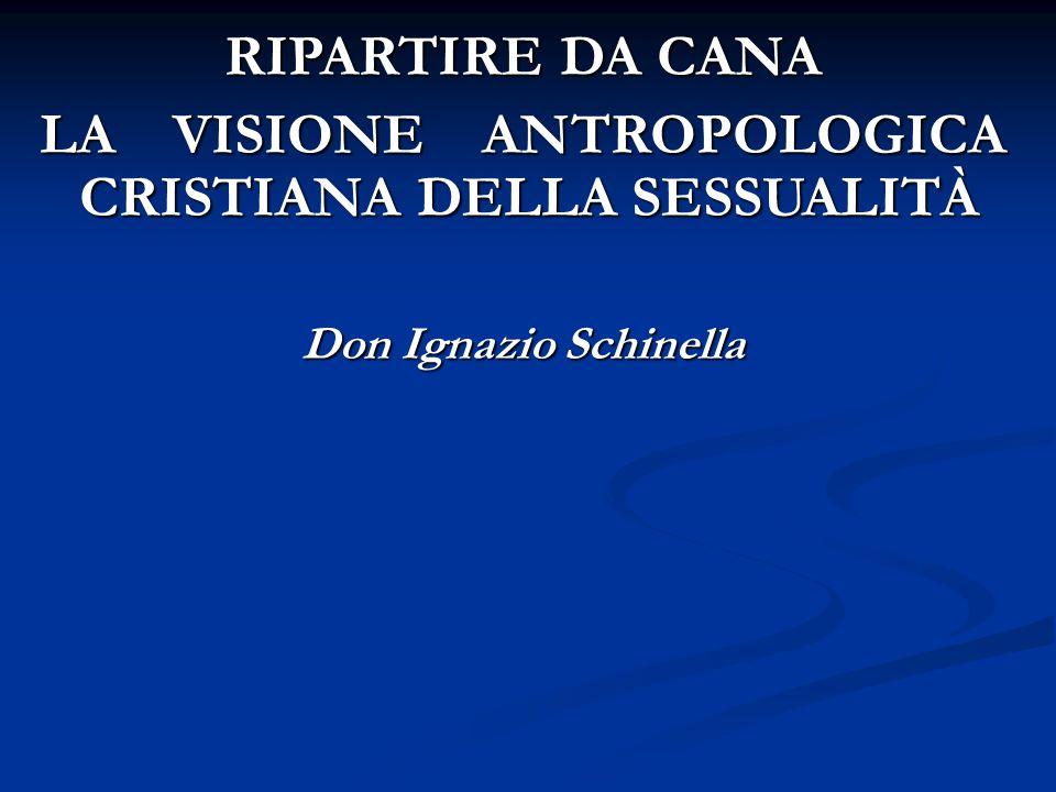 LA VISIONE ANTROPOLOGICA CRISTIANA DELLA SESSUALITÀ