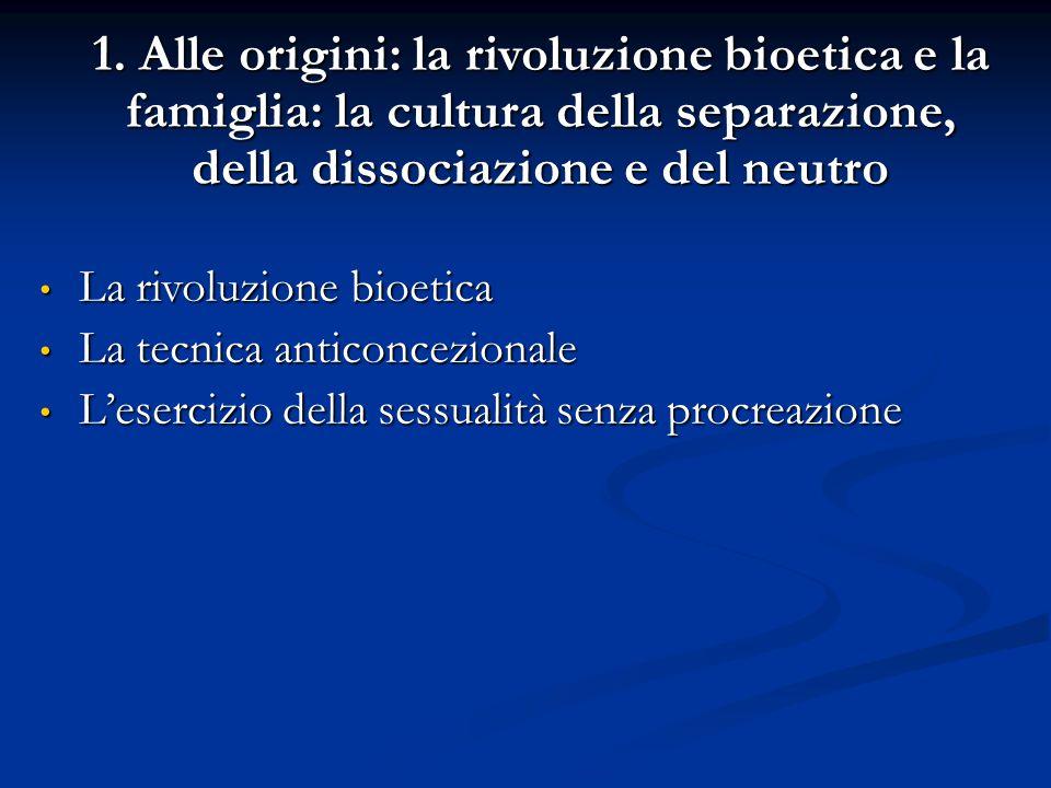 La rivoluzione bioetica La tecnica anticoncezionale