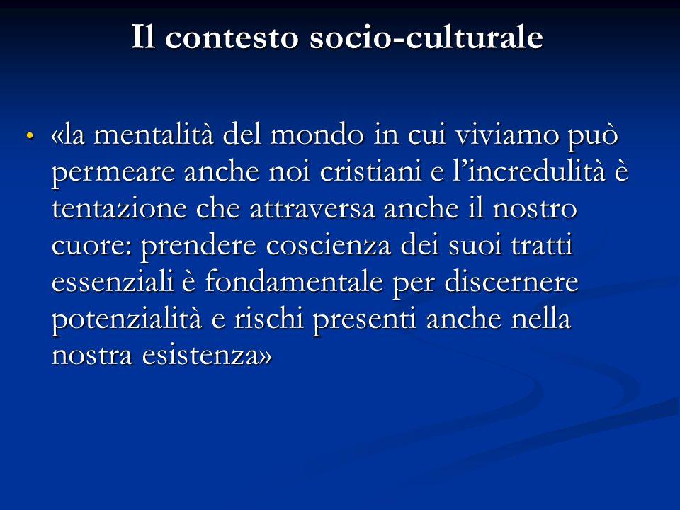 Il contesto socio-culturale