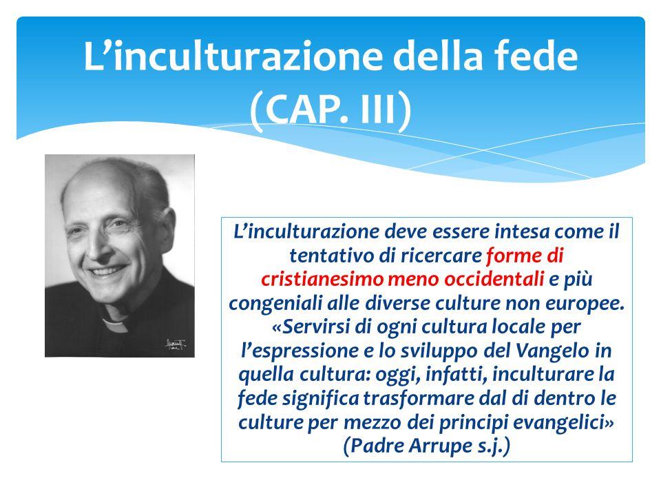 L'inculturazione della fede (CAP. III)