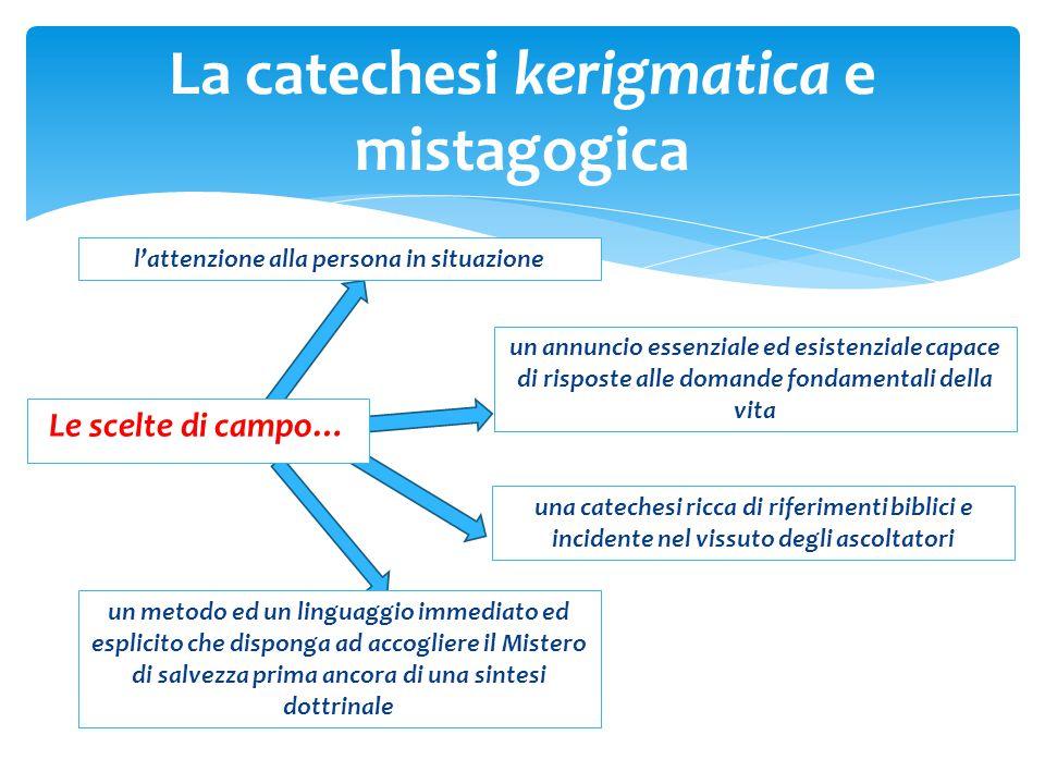 La catechesi kerigmatica e mistagogica