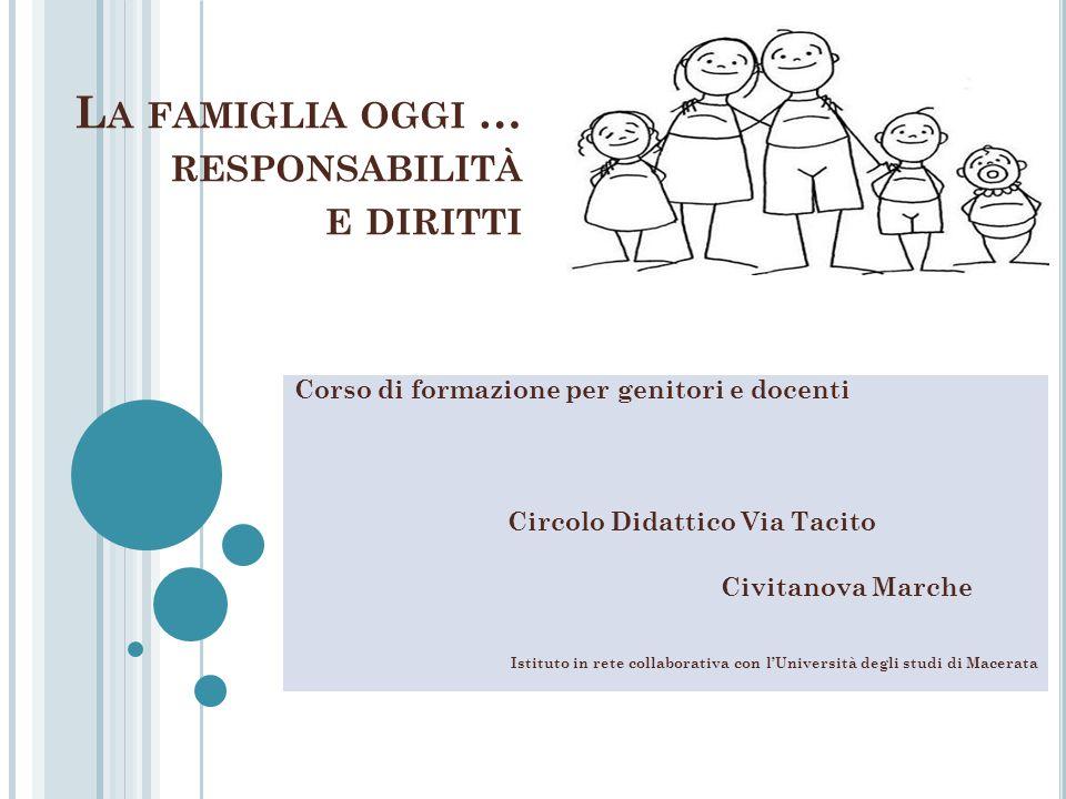 La famiglia oggi … responsabilità e diritti