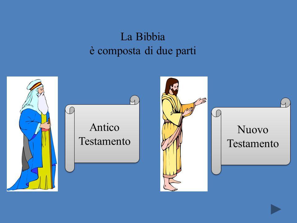 La Bibbia è composta di due parti