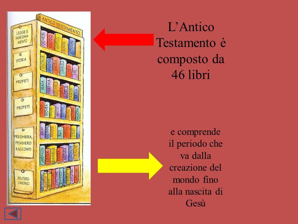 L'Antico Testamento è composto da 46 libri