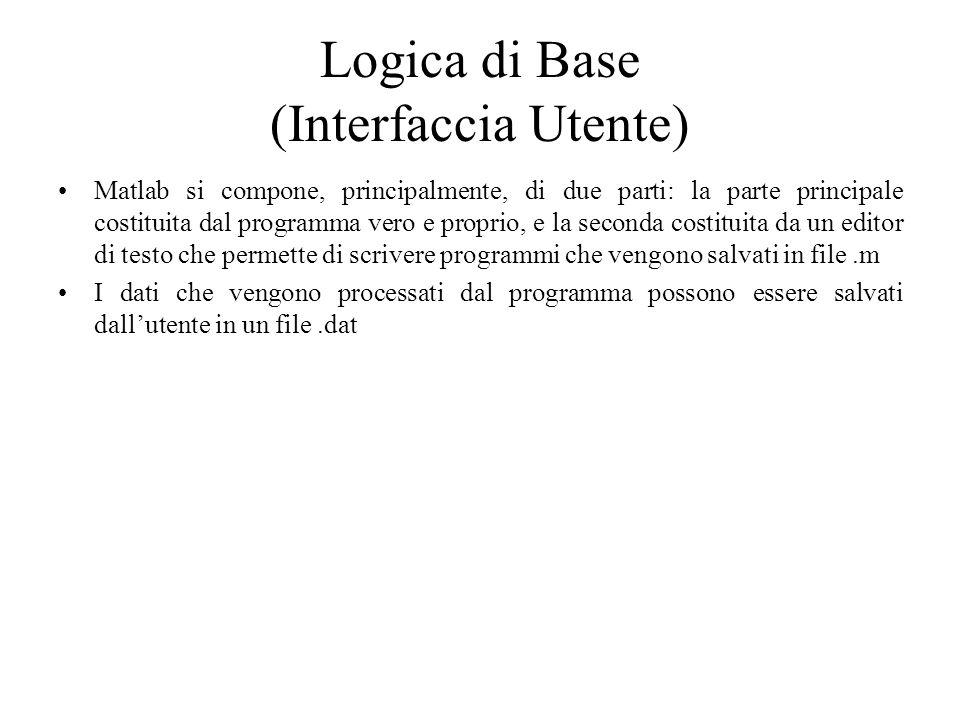 Logica di Base (Interfaccia Utente)