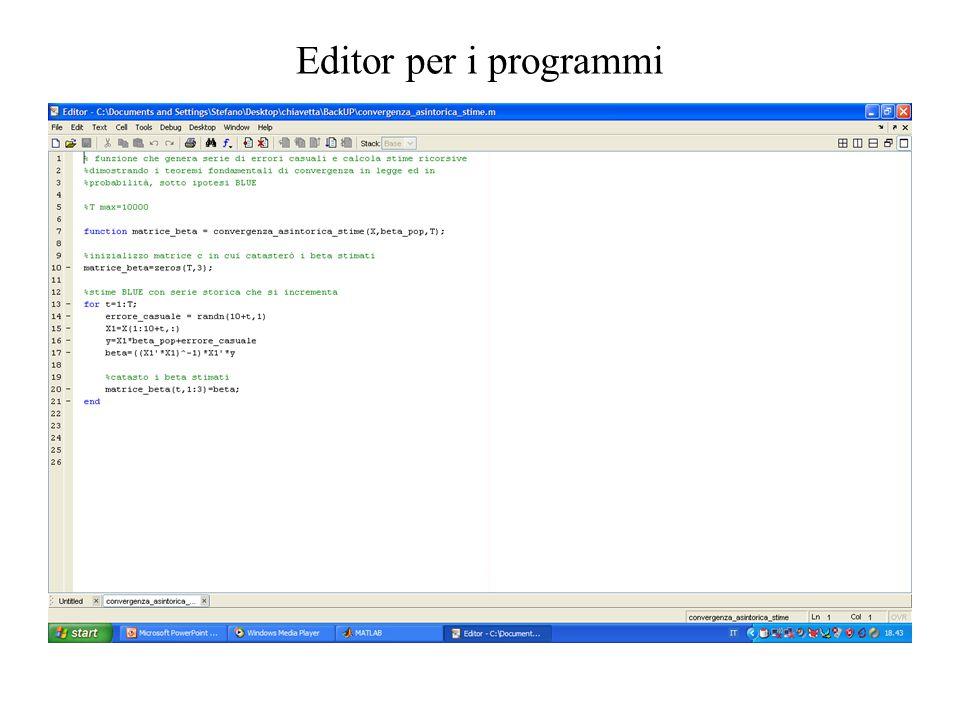 Editor per i programmi