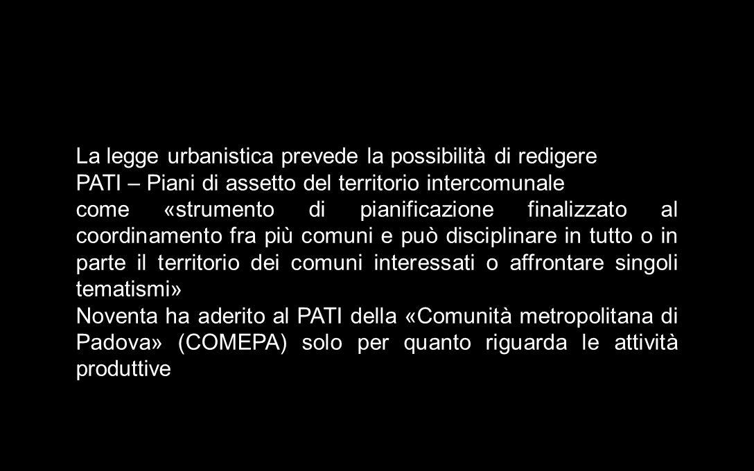 La legge urbanistica prevede la possibilità di redigere