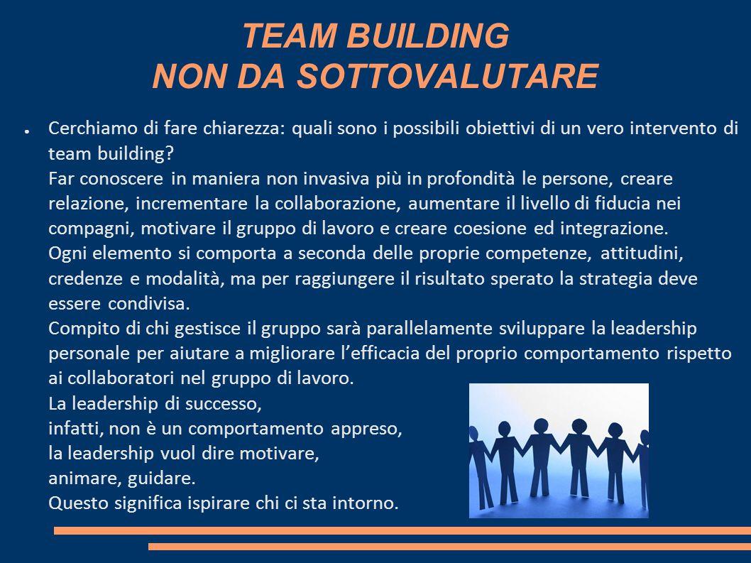TEAM BUILDING NON DA SOTTOVALUTARE