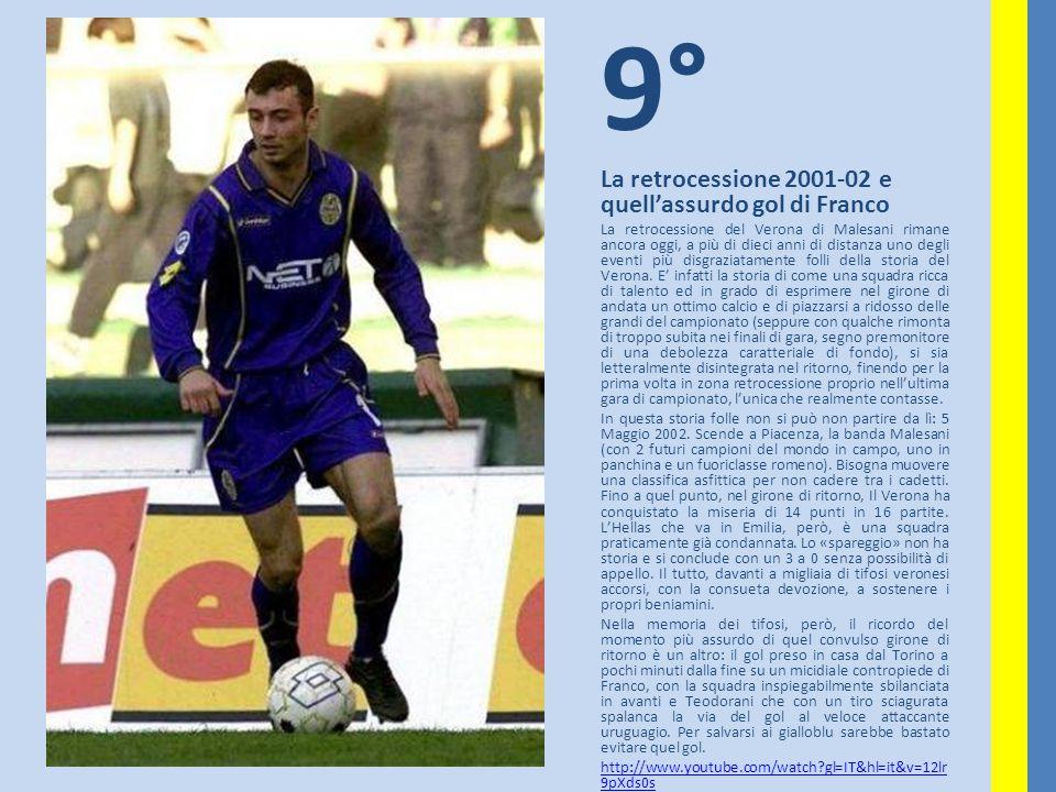 9° La retrocessione 2001-02 e quell'assurdo gol di Franco