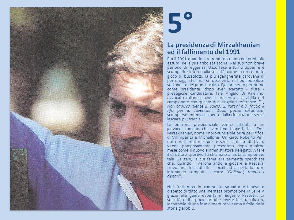 5° La presidenza di Mirzakhanian ed il fallimento del 1991