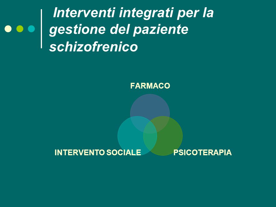 Interventi integrati per la gestione del paziente schizofrenico