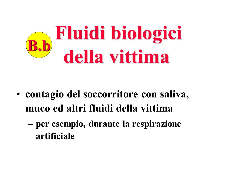 Fluidi biologici della vittima