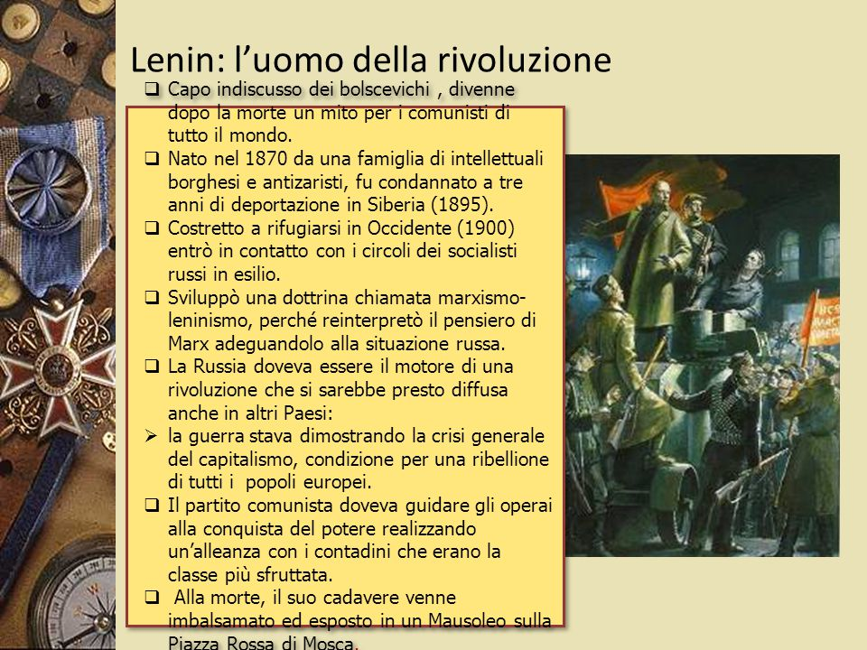 Lenin: l'uomo della rivoluzione
