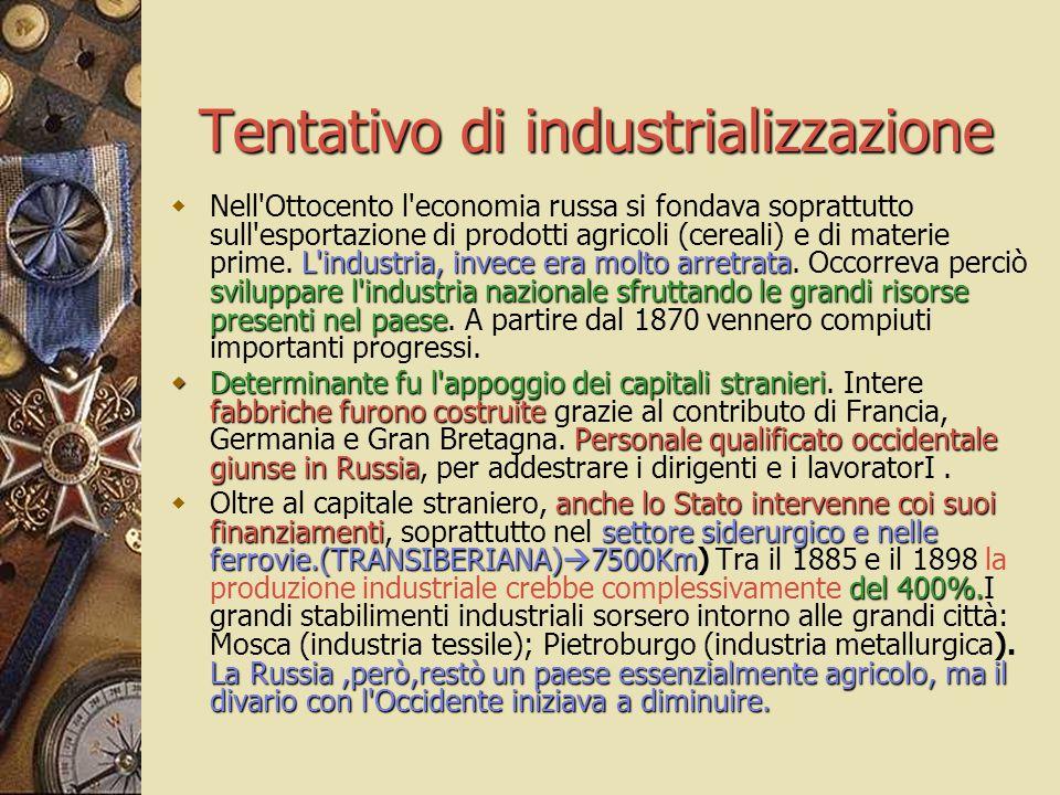 Tentativo di industrializzazione