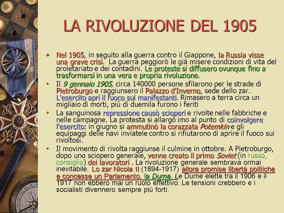 LA RIVOLUZIONE DEL 1905